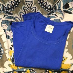 Hollister blue long sleeve